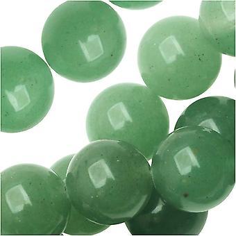 Dakota Stones Gemstone Beads, Green Aventurine, Round 10mm, 8 Inch Strand