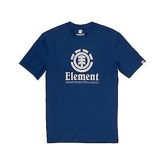 T-shirt vertical à manches courtes d'élément dans les profondeurs bleues