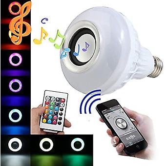 Rgb E27 Multicolor Led Bulb Changing Bluetooth Speaker With Remote Control Compatible With Android And Ios Music Bulb
