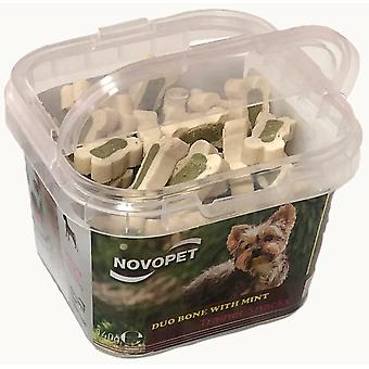 Novopet Trainer Snack Duo Bone With Mint (Dogs , Supplements)