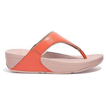Fitflop™ Lulu Coral Pop Binding Toe Post Sandaal