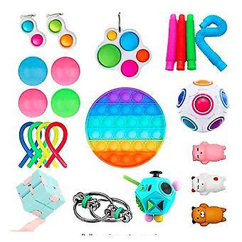 Aisti fidget lelut asettaa kupla pop stressiä helpotus lapsille aikuiset Z60