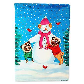 Les trésors de Caroline 7115Gf Bonhomme de neige avec drapeau d'hiver pug, petit, multicolore
