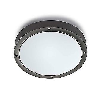 LEDS C4 Basic Aluminium à ー260mm Outdoor Simple Flush Urban Grey, Opal IP65 E27