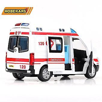 子供の贈り物のおもちゃ ダイキャストモデル救急車の金属合金プルバック車