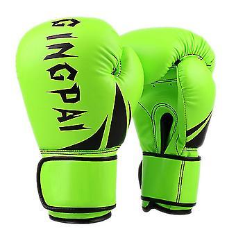 قفازات الملاكمة الخضراء الفلورية بو قفازات الملاكمة الكبار الجلد dt910