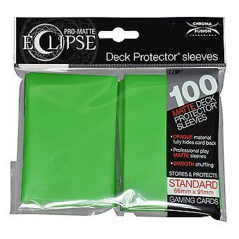 Ultra Pro Matte Lime Green Standard Deck Protectors - 100 Sleeves