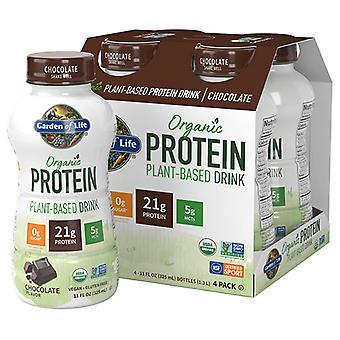 Garden of Life Organic Plant Protein RTD, Chocolat, Cas de 16