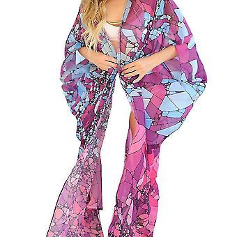 Chiffon Kiminos Cardigan Beachwear Boho Printed Suncreen Bikini Cover Up