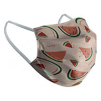 Hygienic Reusable Fabric Mask 10-12 Years Watermelon
