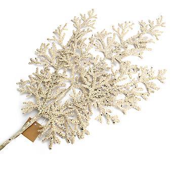 41cm Glittered Cypress Spray | Champagner