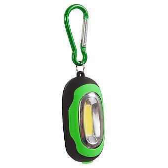 Biggoutdoor LED Keychain, Metal, Carabiner Magnet, 6-7 Key Capacity with 4 cm Diameter,1,5W LED,3 Lighting Modes