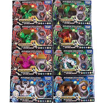In elkaar grijpende blokken tomy bakugan waarde set model bevat 8 attributen kaarten 16 magnetische pads