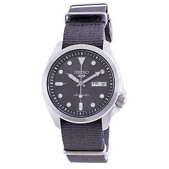 Seiko 5 Sports Grey Dial Nylon Strap Automatic Srpe61 Srpe61k1 Srpe61k 100m Men's Watch