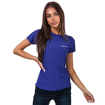 T-shirt för damernas Berghaus 24/7 SS Tech Baselayer i lila