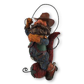 Причудливый ковбой, езда перец Чили, вертя Лассо статуя