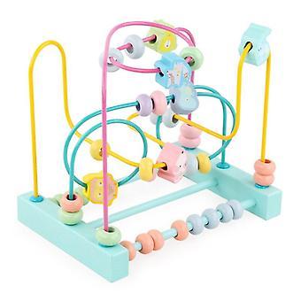 الأطفال خشبية لعب متاهة دوائر حول الخرز Abacus الرياضيات لعب لغز الاطفال الهدايا  ألعاب الرياضيات