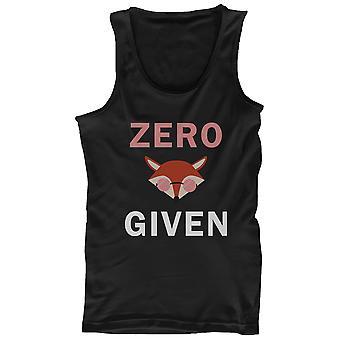 Noll Fox gett män Tank Top svart ärmlös tröja rolig tillbaka till skolan tankar