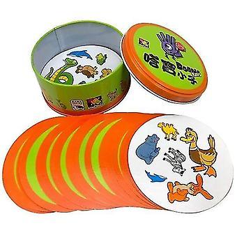 8+ Dobble Spot it Kartenspiel mit Tieren, Alphabeten und Zahlen (C)