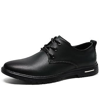 Mcikcara mænds derby sko læder 7066(Us6.5/eu39)(Sort)