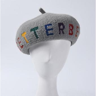 צמר רקום כומתות צייר אמן כובעים כומתה חורף כובע סתיו גבירותיי