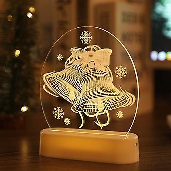 Hem Ledde Santa / träd Nattljus Sängbord LjusBord Nattlampa Nattlampa För vardagsrum sovrum Kontor