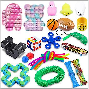 Sensory Decompression Toy Set Puzzle Diy Combination Toys -19