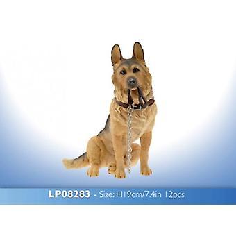 19cm Walkies cadela pastor alemão sentado ornamento estatueta dom Collectables