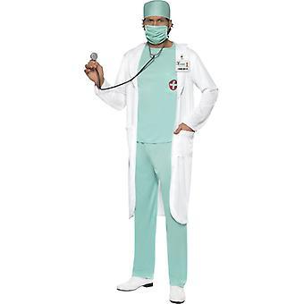 Costum de doctor cu muguri de gura de sus pantaloni de gură nume clar farfurie și haină