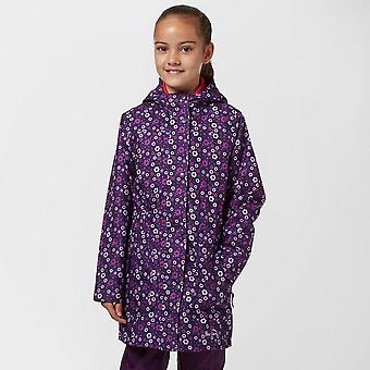 New peter Storm Girl's Floral Mac Waterproof Jacket Navy