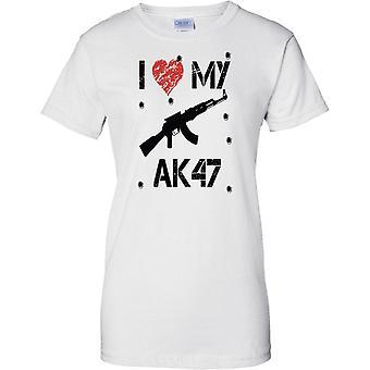 Me encanta mi AK47 - inspirado jugador Arcade Shooter - señoras T Shirt