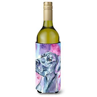Dog niemiecki nastrój niebieski butelki wina napojów izolator Hugger