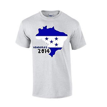 Honduras 2014 Pays Drapeau T-shirt (gris)