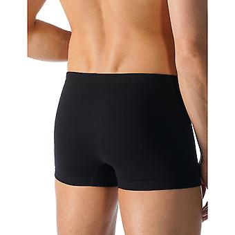 Mey 49121-123 Men's Casual Cotton Black Solid Colour Fitted Boxer