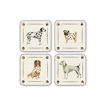 Cooksmart bäst i Show hund Design underlägg, Set om 4
