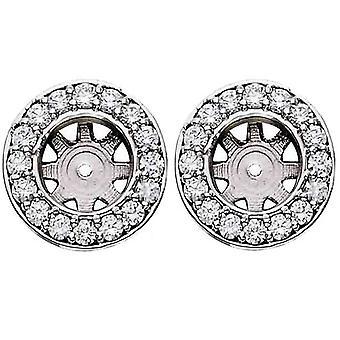 3 / 4ct Halo Runde Diamanten Ohrstecker Ohrring Jacken Weißgold passt 1ct (6-6,5 mm)