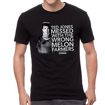 Pineapple Express Melon Farmers Red Quote Men's Black T-shirt