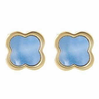 Orphelia Silver 925 Earring ZO-7169/G Mop Gold Flower