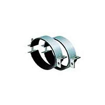 Pipe clamps for in-line fans in various sizes