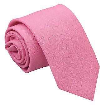 Neilikka Pink Hopsack pellava ohut Tie
