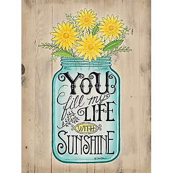 Sunshine affisch Skriv av Deb stam (12 x 16)