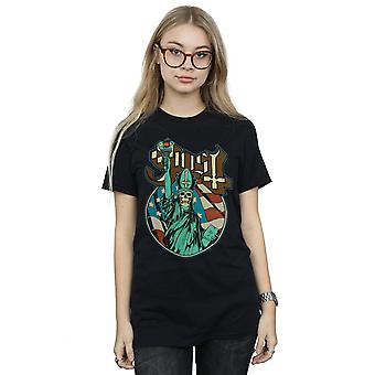 Ghost Women's Statue Of Liberty Boyfriend Fit T-Shirt