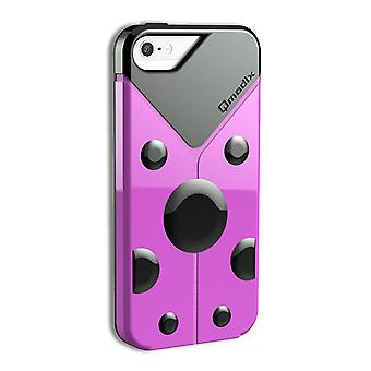 5 Pack -Qmadix LoveBug Case for Apple iPhone 5/5S (Pink)