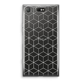 Sony Xperia XZ1 Compact Transparant cas (doux) - Cubes noir et blanc