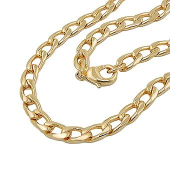 AMD wide tank chain 5 mm gold plated 50 cm