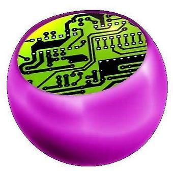 Data piercing ersättare boll rosa, smycken, och Chip grön | 1,6 x 5 och 6 mm