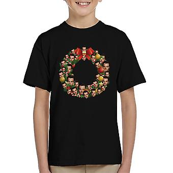 Christmas Wreath Multi Leonardo DiCaprio Kid's T-Shirt