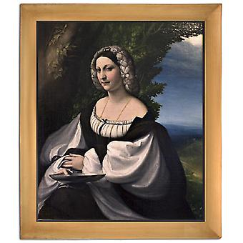 Avec Ram Portrait d'une Gentlewoman, Correggio, 61x51cm