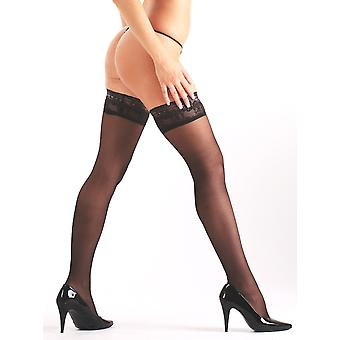Purr Lingerie Women's Sexy Hold Up Stocking in Sheer Elegant Lace Band