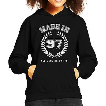 Made In 97 All Genuine Parts Kid's Hooded Sweatshirt
